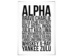 Amazon Com Alpha Bravo Charlie Art Print 60 Colours 4