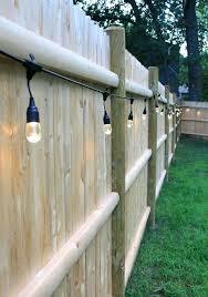 backyard fence lighting outdoor ideas new led string lights design fe