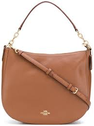 Coach logo zipped tote bag   Brown   MILANSTYLE.COM