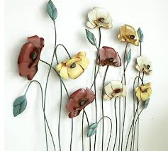 modern home decoration metal wall art hand made colorful poppy flower metal craft 60 57cm as wall decor and gift on aliexpress alibaba group on poppy flower metal wall art with modern home decoration metal wall art hand made colorful poppy