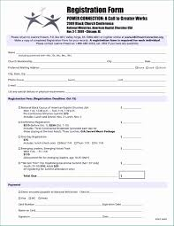 Registration Form Templates For Word Registration Forms Template Word Amazing Church Conference