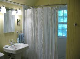 curved vs straight shower rod shower curtain rod curtain startling wall mounted shower curtain rod