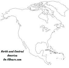 North America Map Coloring Page Printable Continent Maps And South