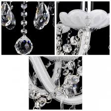 stunning 4 light classic candle style crystal chandelier shine with glistening crystals