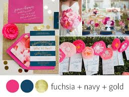 color crush fuchsia, navy and gold Wedding Colors Navy And Pink navy, pink and gold wedding color palette wedding colors navy blue and pink