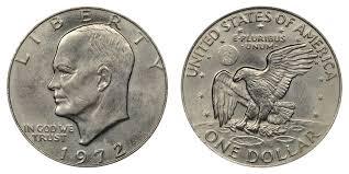 1972 Eisenhower Silver Dollar Value Chart 1972 Eisenhower Dollar Type 2 High Relief Reverse Struck