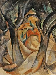 trees at l estaque 1908 by georges braque from the met s cubism