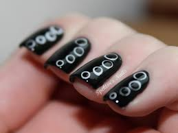 general-excellent-glossy-black-nail-art-design-idea-with-white ...