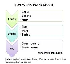 5 Month Old Baby Food Chart Chikku World Food Chart And Recipes For 5 Months Old Baby