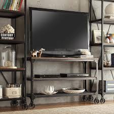 Inspire Q Nelson Industrial Modern Rustic Grey Console Sofa Table TV Stand