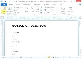 Free Eviction Notices Templates Eviction Notice Template Edunova Co