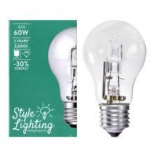 Es E27 Energy Saving Light Bulbs 5 X Style Lighting 42 Watt 60 Watt Halogen Gls Light Bulbs