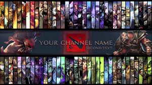 free dota 2 youtube gaming channel art template psd file free