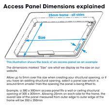 External Access Panel With Key Lockable Door For Exterior Use - Exterior access door