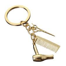 Золото серебро ножницы <b>волос</b> Фен <b>расческа брелок</b> брелок ...