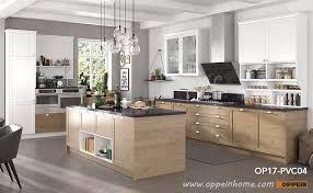 transitional style pvc kitchen units op17 pvc04