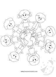 Disegno Del Mondo Da Colorare Per Bambini Disegno