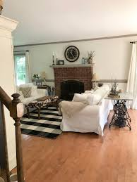 this past month i made a new purchase the buffalo check rug since my little piggie neil ruined the sisal one i had in here previously