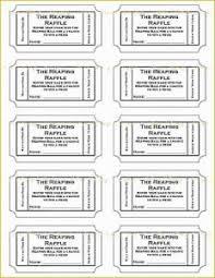 Printable Raffle Ticket Template Free Templates Diaper