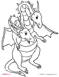 Coloriages Pour Gar On Le Dragon Deux T Tes