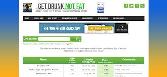 Get Drunk Not Fat Chart 30 Killer Websites That Will Save You Money