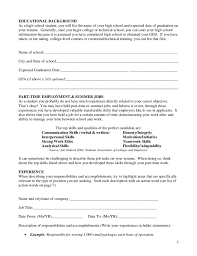 Gallery Of High School Student Resume Worksheet Free Download High