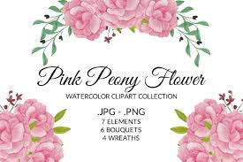 With my free template and step by step. Pink Peony Flower Watercolor Clipart Set Graphic By Elsabenaa Creative Fabrica