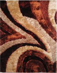 5x7 la rugs brown curves waves swirls abstract area rug fa 16 aprx 5 x 7 3