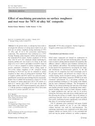 Experimental Study Of Machinability In Mill Grinding Of Sicp