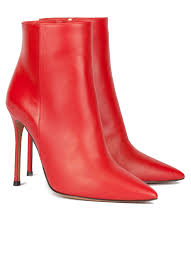 red leather heeled pointy toe ankle boots red high heel ankle boots nicole pura lópez