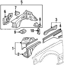 Genuine honda bumper bracket hon 60212sh5000zz