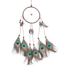 Dream Catcher Group Home Handmade Circular Net Dream Catcher with peacock Feathers Car wall 51