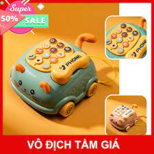 Điện thoại đồ chơi cho bé, đồ chơi phát nhạc cho trẻ từ 0-3 tuổi - giáo dục  sớm [Mã FASHION10K hoàn 10K xu đơn 0Đ] SẴN H