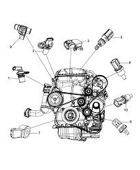 2009 chrysler sebring sensors engine