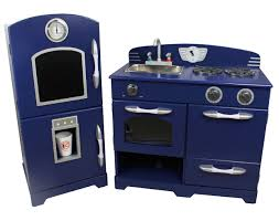 Childrens Wooden Kitchen Furniture Teamson Kids Royal Blue Wooden Toy Kitchen