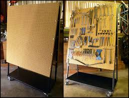 after poking around on the interwebs he found an instructable by brad justinen entitled build a 500 peg board cart for 30 50