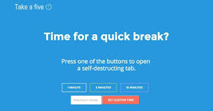 Set Timer Five Minutes This Tool Ends Procrastination By Closing Your Browser Tab After 5