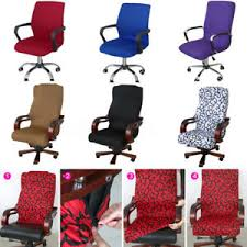 office chair covers. Exellent Covers Image Is Loading SwivelComputerChairCoverStretchOfficeSpandexArmchair  With Office Chair Covers
