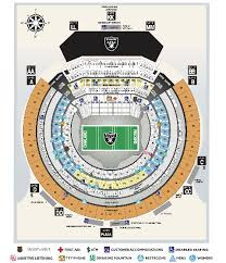 Oracle Arena Seating Chart Raiders Seating Charts Oakland Arena And Ringcentral Coliseum