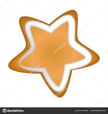 Lebkuchen Stern Mit Glasur Isoliert Weihnachten