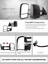 Amazon.com: YITAMOTOR Chevy Towing Mirrors Chevrolet Silverado ...