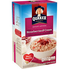 amazon quaker instant oatmeal strawberry cream breakfast cereal 1 23 ounce 10 packets per box pack of 4 oatmeal breakfast cereals