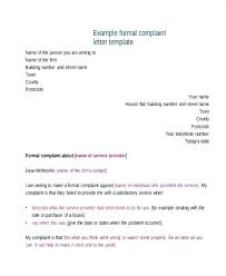 Letter Of Complain Template Complaint Letter Examples Samples Doc Formal Employee Email