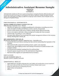 Resume Template For Administrative Assistant Fascinating Resume Template Executive Assistant Administrative Assistant Resume