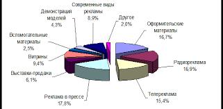 Реферат Особенности рекламной деятельности торговой организации  Рисунок 2 2 Структура средств затраченных на рекламу ООО Евроторг за 2009 год