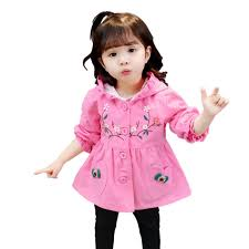 spring autumn trench coat baby girl warm outerwear sport clothes infant baby jackets toddler cotton cute