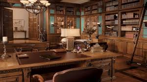 HD Traditional And Vintage Home Office Interior Design Pictures