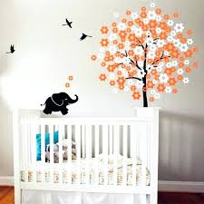 white wall art decor white tree with flying birds wall decal vinyl sticker cute elephant wall