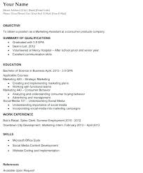 Resume Objectives For General Job General Resume Skills Examples