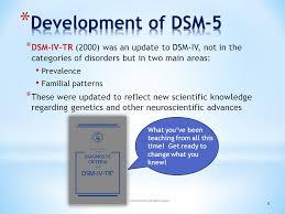 development of dsm 5 dsm iv tr 2000 was an update